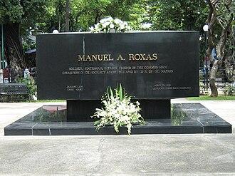 Manuel Roxas - Gravesite of Manuel Roxas