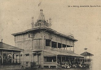 Royal Bangkok Sports Club - The clubhouse in around 1910