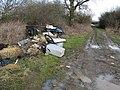 Rubbish tip alongside footpath at Mid sussex Golf Club - geograph.org.uk - 1700662.jpg