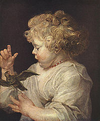 A child with bird