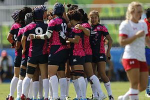 Japan women's national rugby sevens team - Image: Rugby Feminino Canadá vs. Japão 13