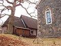 Ruhnu Püha Magdaleena kirik idast.JPG