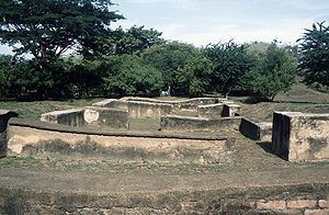 "Spanish conquest of Nicaragua - Ruins of León Viejo (""Old León""), founded by Francisco Hernández de Córdoba in 1524"