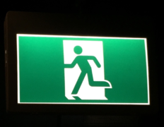 Fire exit signs meaning