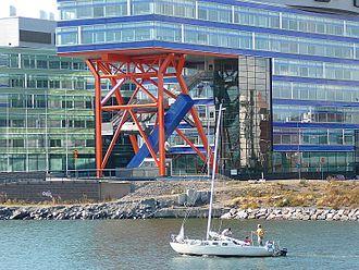 Salmisaari - Office buildings on the Tammasaari pier on the shore of Ruoholahti.