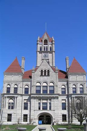 Rush County, Indiana - Image: Rush County Courthouse, Rushville
