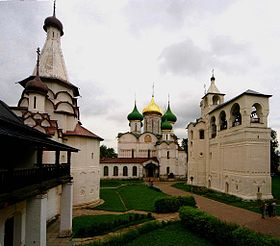 Russia-Suzdal-St Euthymius Monastry-Transfiguration Cathedral-Belfry.jpg
