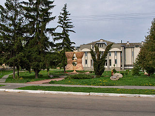 Rzhyshchiv city in Kyiv Oblast, Ukraine