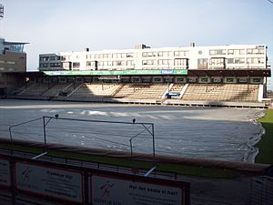 Söderstadion - Image: Söderstadion Pitch and north stand