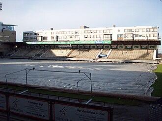 Söderstadion - Image: Söderstadion Pitch and north stand