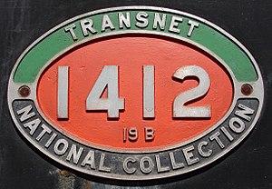 South African Class 19B 4-8-2 - Image: SAR Class 19B 1412 (4 8 2) ID