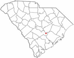 Location of Eutawville, South Carolina