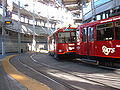 SD Trolley Blue line entering America Plaza station 4.JPG