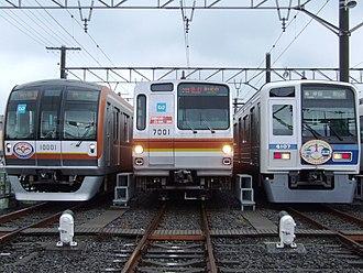 Seibu Yūrakuchō Line - A lineup of Seibu Yūrakuchō Line rolling stock, June 2009