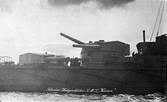 Kaiser-class battleship - Image: SMS Kaiser turrets aft 2