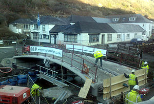 Boscastle flood of 2004 - The New Lower Bridge, taken on 20 December 2007.