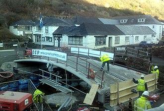 Boscastle flood of 2004 - The New Lower Bridge, taken on 20 December 2007.