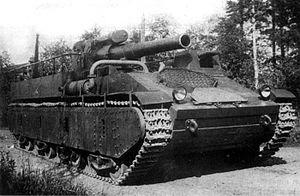 СУ-14 — опытная советская самоходная артиллерийская установка 300px-SU-14_before_the_firing_test%2C_1934