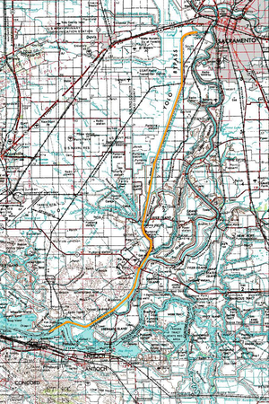 Sacramento Deep Water Ship Channel - Map of the Sacramento Deep Water Ship Channel