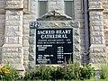 Sacred Heart Cathedral - Davenport, Iowa sign.JPG