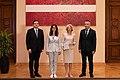 """Saeimas priekšsēdētāja tiekas ar grāmatas """"Konstitucionālās tiesības"""" autoriem 01.jpg"""