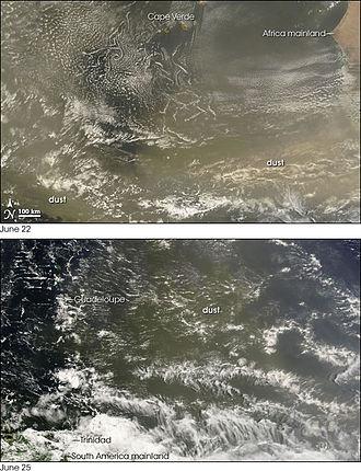 Mineral dust - Image: Saharan Dust Crosses the Atlantic