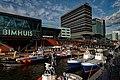 Sail Amsterdam - Piet Heinkade - View NW on KNRM Lifeboats, Bimhuis & Mövenpick Hotel.jpg