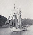 Sailboat on The Inland Sea, Japan - Detail (1914 by Elstner Hilton).jpg