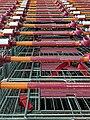 Sainsbury's supermarket shopping trolleys at Chingford, London, England 1.jpg