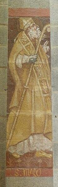 Saint-Malo. Fresque d'Émile Bernard en l'église de Saint-Malo-de-Phily (35).