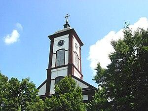 Novi Kneževac - Image: Saint George the Martyr Roman Catholic Church, Novi Kneževac, Vojvodina, Serbia 20060701