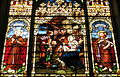 Saint Mary Catholic Church (Dayton, Ohio) - stained glass, Nativity with St. Francis & St. John the Baptist.JPG