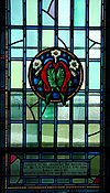 Saint Raphael Roman Catholic Chapel Yeo Hall Royal Military College of Canada memorial window to Iam GA McNaughton 2588.jpg