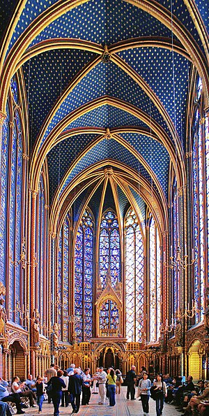 Paris in the Middle Ages - The Sainte-Chapelle was the chapel of the royal palace on the Île de la Cité, built in the 13th century