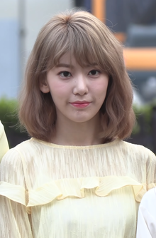 Sakura Miyawaki at Music Bank on April 12, 2019.png