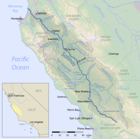 Salinas River California Wikipedia - California river map