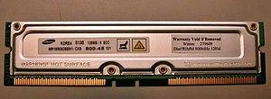 RDRAM - A Samsung RDRAM 6400 128 MB