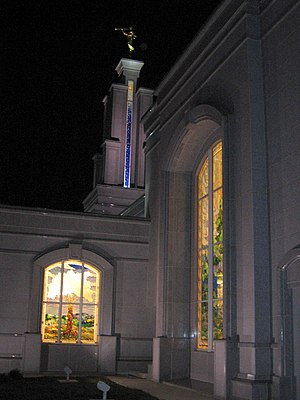 San Antonio Texas Temple - Image: San Antonio Temple at night 7