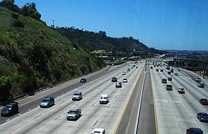 Interstate 8 - Interstate 8 in San Diego, from the San Diego Trolley