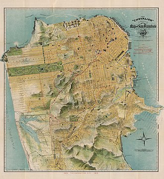 Preparedness Day Bombing - 1915 San Francisco Street Map