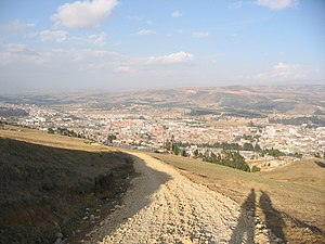 "Pacanchique - View on Tunja from ""Gallow Hill"" where Pacanchique's father and fiancé were hanged"