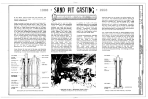 Sand Put Casting - United States Pipe and Foundry Company Plant, 2023 St. Louis Avenue at I-20-59, Bessemer, Jefferson County, AL HAER ALA,37-BES,6- (sheet 2 of 16).png