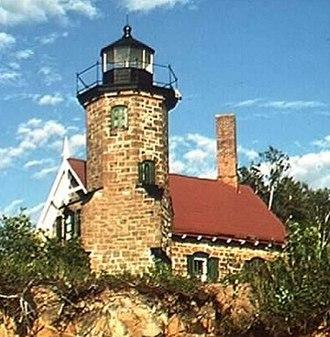 Sand Island Light (Wisconsin) - Image: Sandlite