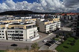Sannegården set fra Sørhallbjerget.