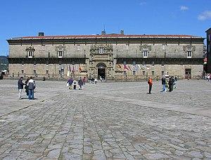 Praza do Obradoiro - Image: Santiago Hostal Obradoiro