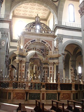Santo Spirito, Florence - Baldachin over the high altar