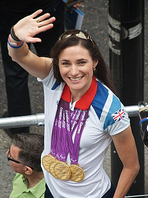 Sarah Storey - Storey at the Our Greatest Team Parade, in 2012.