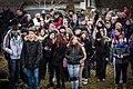 Sarre-Union lycéens pendant cérémonie profanation cimetière juif 17 février 2015.jpg
