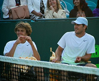 Alexander Zverev Jr. - Zverev with his older brother, Mischa (right), in 2013