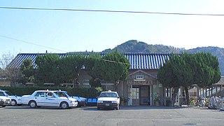 railway station in Ashikita, Ashikita district, Kumamoto prefecture, Japan